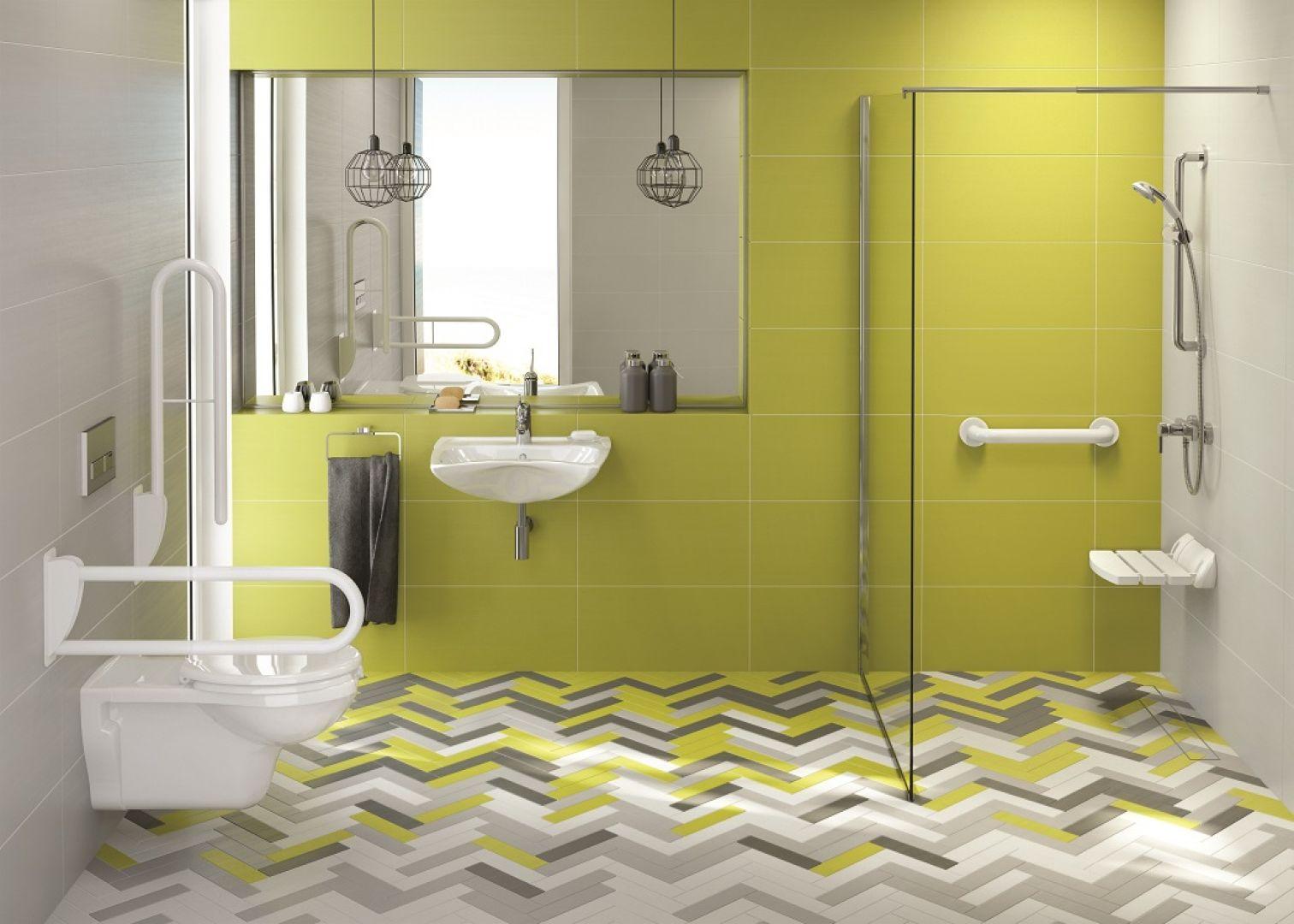 Elementy wyposażenia łazienki z serii Vital dedykowanej dla seniorów i osób z niepełnosprawnością. Fot. Deante