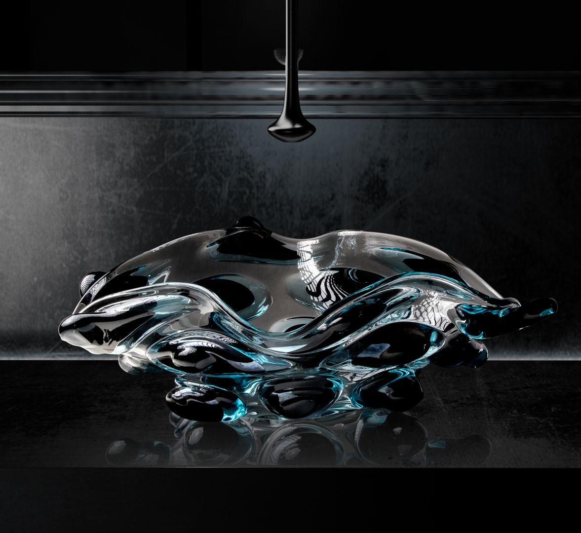 Szklana umywalka Arte 4 z kolekcji Arte Collection marki Glass Design. Fot. Glass Design
