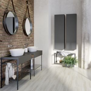 Aranżacja łazienki w stylu loft z meblami z kolekcji Splendour marki Opoczno. Fot. Opoczno