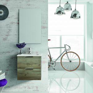 Aranżacja łazienki w stylu loft z meblami z kolekcji Street marki Elita. Fot. Elita