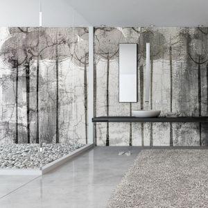 Łazienka z tapetą z kolekcji Cespico. Fot. Instabilelab