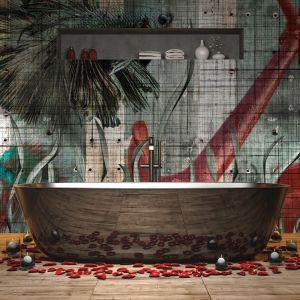 Łazienka z tapetą z kolekcji Abissi. Fot. Instabilelab