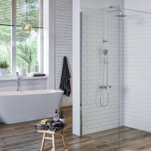 Natynkowy zestaw prysznicowy Rain Altar z głowicą Slim marki Excellent. Fot. Excellent