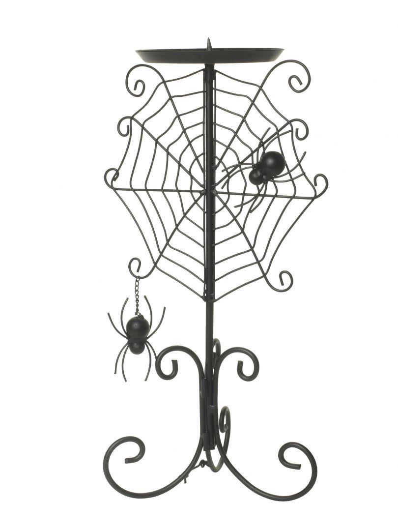 Pomysłowy świecznik marki HomeSense, formą udający pajęczynę z jej mieszkańcami. Fot. HomeSense