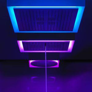 Armatura prysznicowe zintegrowana z oświetleniem Afilo z serii Gessi Private Wellness. Fot. Gessi