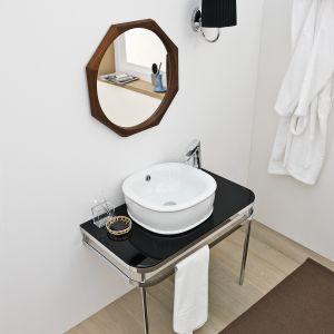 Nablatowa umywalka w stylu retro z kolekcji Azuley marki Artceram. Fot. Artceram