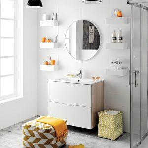 Łazienka w stylu skandynawskim. Fot. Ferro, na zdjęciu bateria umywalkowa Veneto VerdeLine