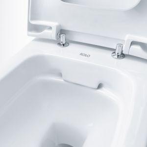 Bezrantowe miski toaletowe, np. wykonane w technologii Rimfree marki Koło, pomagają utrzymać higienę w łazience. Fot. Koło