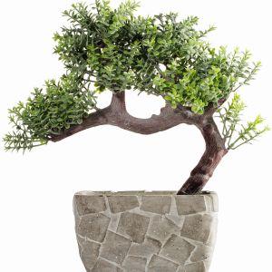 Kwiat dekoracyjny z kolekcji Bonsai nie wymaga podlewania, za to niezmiennie cieszy oko przez cały rok. Fot. Eurofirany