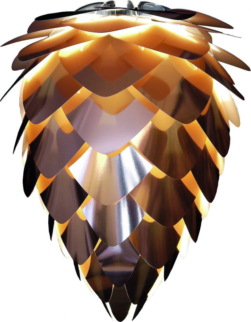 Lampa wiszące Vita Conia kształtem przypomina szyszki, chociaż połyskuje niczym diament. Fot. Vita (sklep Czerwonamaszyna.pl)