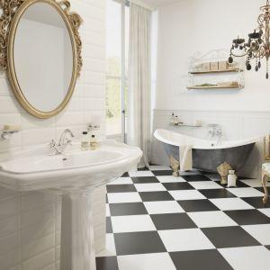 Aranżacja łazienki w stylu klasycznym zaproponowana przez firmę Ferro. Na zdjęciu bateria umywalkowa Retro New. Fot. Ferro