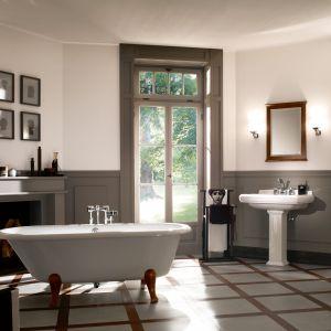 Wyposażenie łazienki z kolekcji Hommage idealnie wpisuje się w aranżację łazienki w klasycznym stylu. Fot. Villeroy&Boch