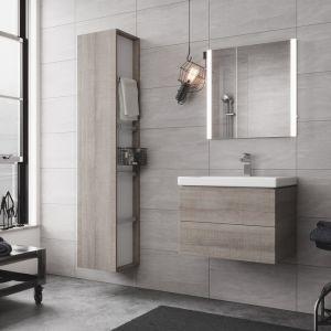 Meble łazienkowe i umywalka meblowa z kolekcji City. Fot. Cersanit