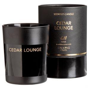 Elegancka świeca zapachowa w czarnym szkle nie tylko efektownie wygląda, ale również pięknie pachnie drzewem cedrowym. Idealna do zbudowania nastroju w wieczornej kąpieli. Czas palenia 40 godzin. Cena: 79,90 zł. H&M Home x Calming Park