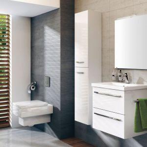 Białe meble łazienkowe z kolekcji Kwadro. Fot. Elita