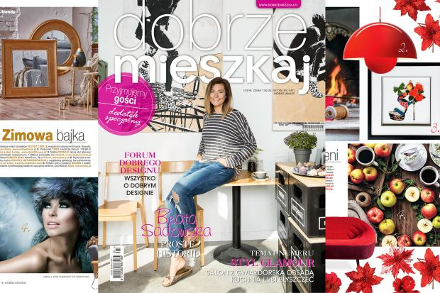 Gwiazdą najnowszego wydania Dobrze Mieszkaj jest znana dziennikarka Beata Sadowska. Polecamy obszerny wywiad z gwiazdą oraz towarzyszącą mu, wyjątkową sesję zdjęciową.