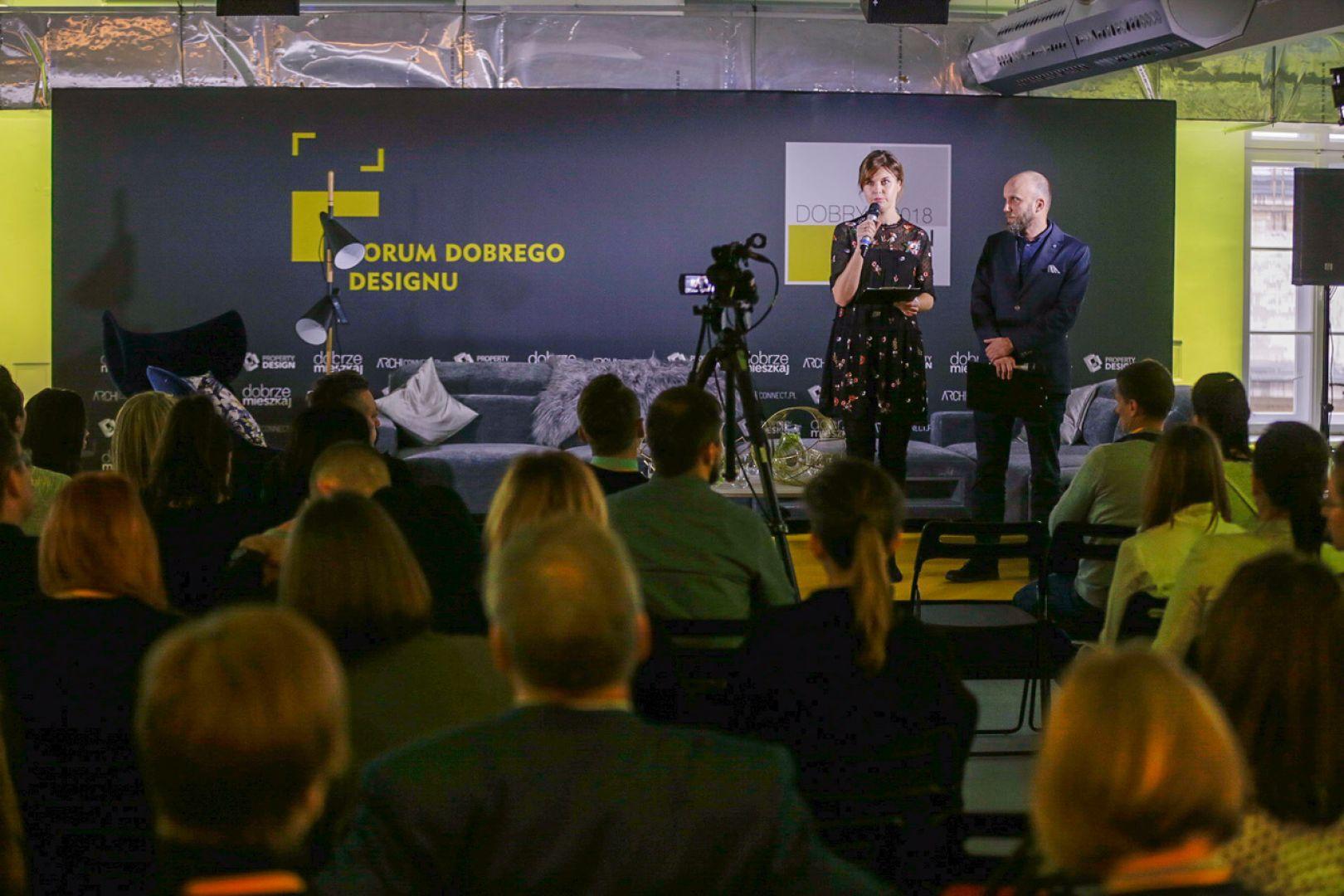 Inauguracja Forum Dobrego Designu: Małgorzata Burzec-Lewandowska i Robert Posytek. Fot. Piotr Waniorek