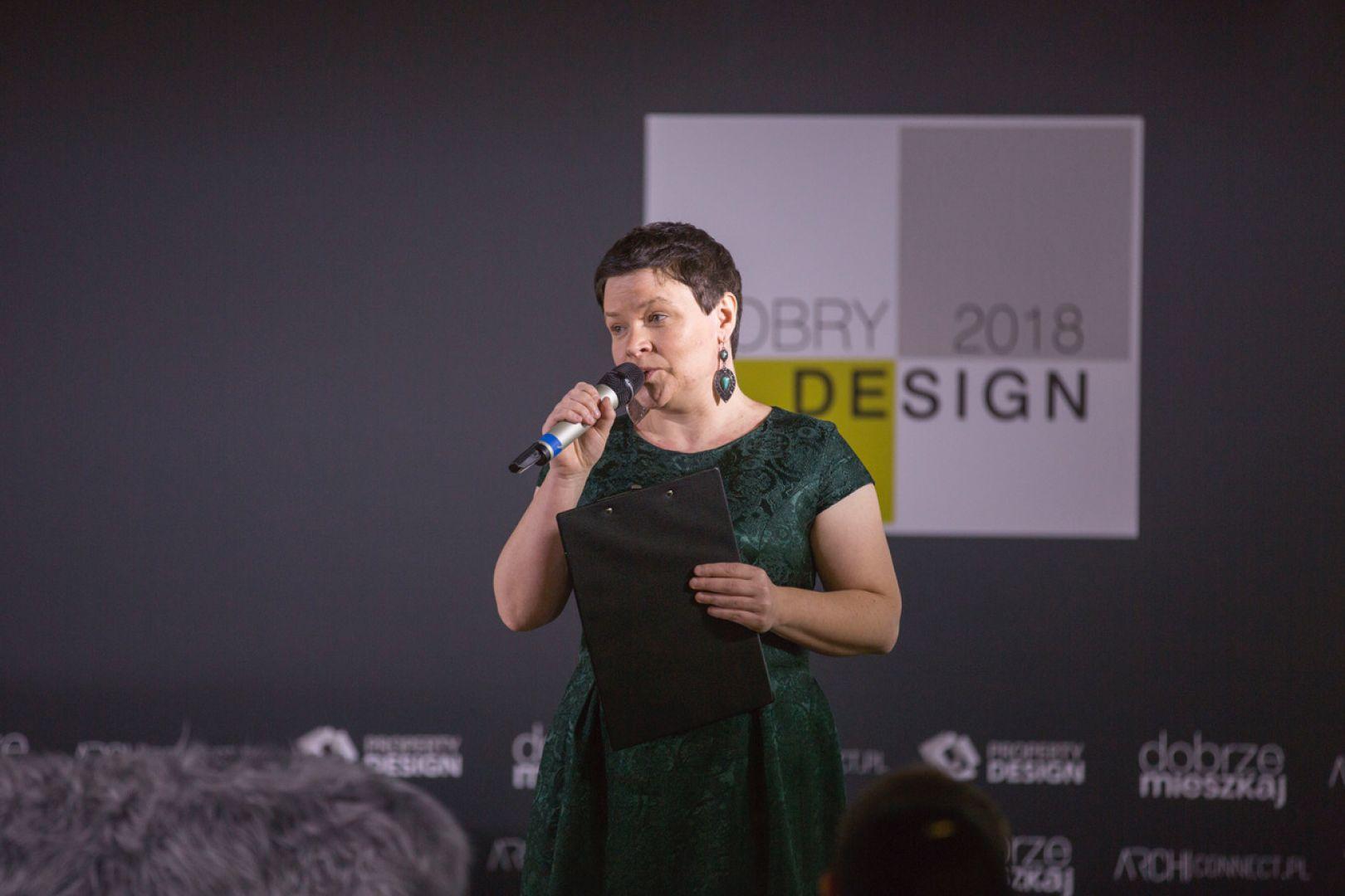 Inauguracja Forum Dobrego Designu: Justyna Łotowska, redaktor merytoryczna FDD. Fot. Piotr Waniorek