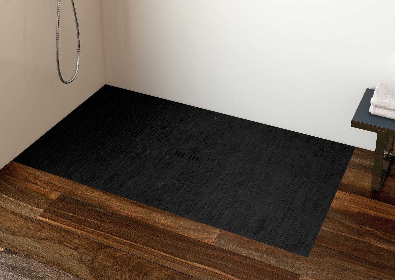 Brodzik prysznicowy Helios w kolorze czarny dekatyzowany; wym. 160x90. Fot. Roca