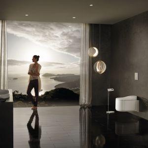 Toaleta myjąca Sensia Arena marki Grohe to idealny przykład dbałości o higienę w łazience i wkraczania nowoczesnych technologii do tej przestrzeni życia. Fot. Grohe