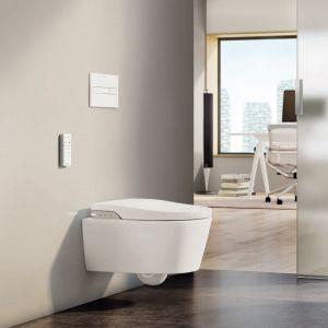Toaleta myjąca InWash Inspira Rimless to połączenie nowoczesnych technologii mycia z bezrantowym kołnierzem. Fot. Roca