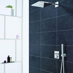 Podtynkowa armatura prysznicowa na stałe odmieniła wygląd stref prysznica w polskich łazienkach. Na zdjęciu armatura SmartControl firmy Grohe. Fot. Grohe