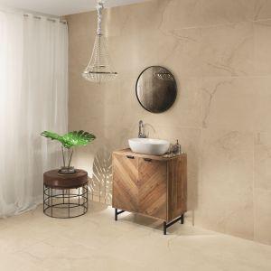 Płytki ceramiczne imitujące kamień z kolekcji Massa marki Monolith firmy Tubądzin. Fot. Tubądzin