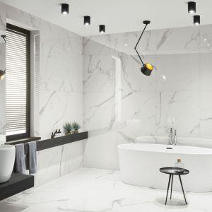 Płytki ceramiczne imitujące marmur z kolekcji Pietrasanta marki Monolith firmy Ceramika Tubądzin. Fot. Tubądzin