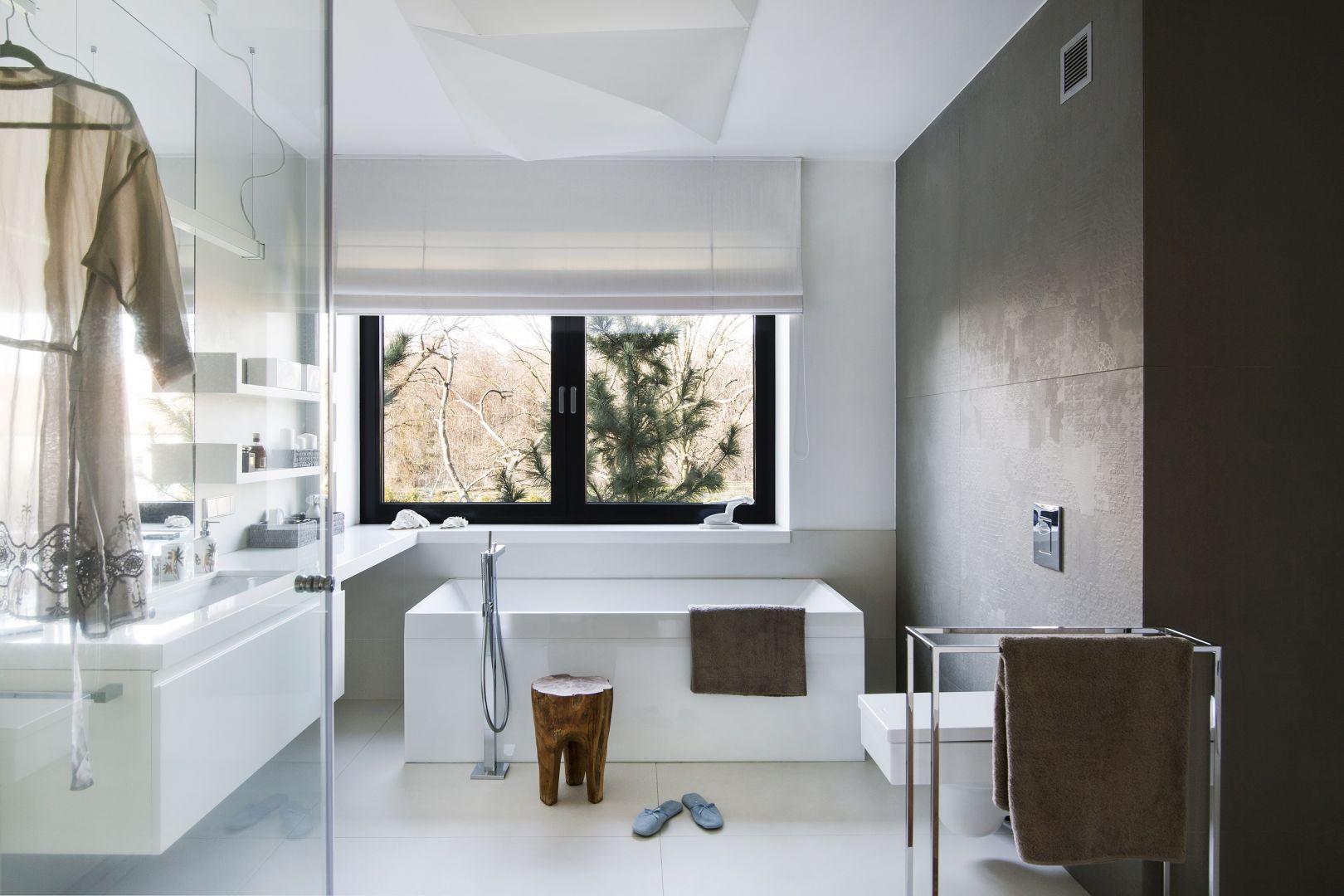 Salon kąpielowy w stylu loft. Proj. Anna Koszela. Fot. Rafał Lipski