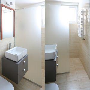 Mała łazienka z pralką. Proj. Katarzyna Karpińska-Piechowska. Fot. Bartosz Jarosz