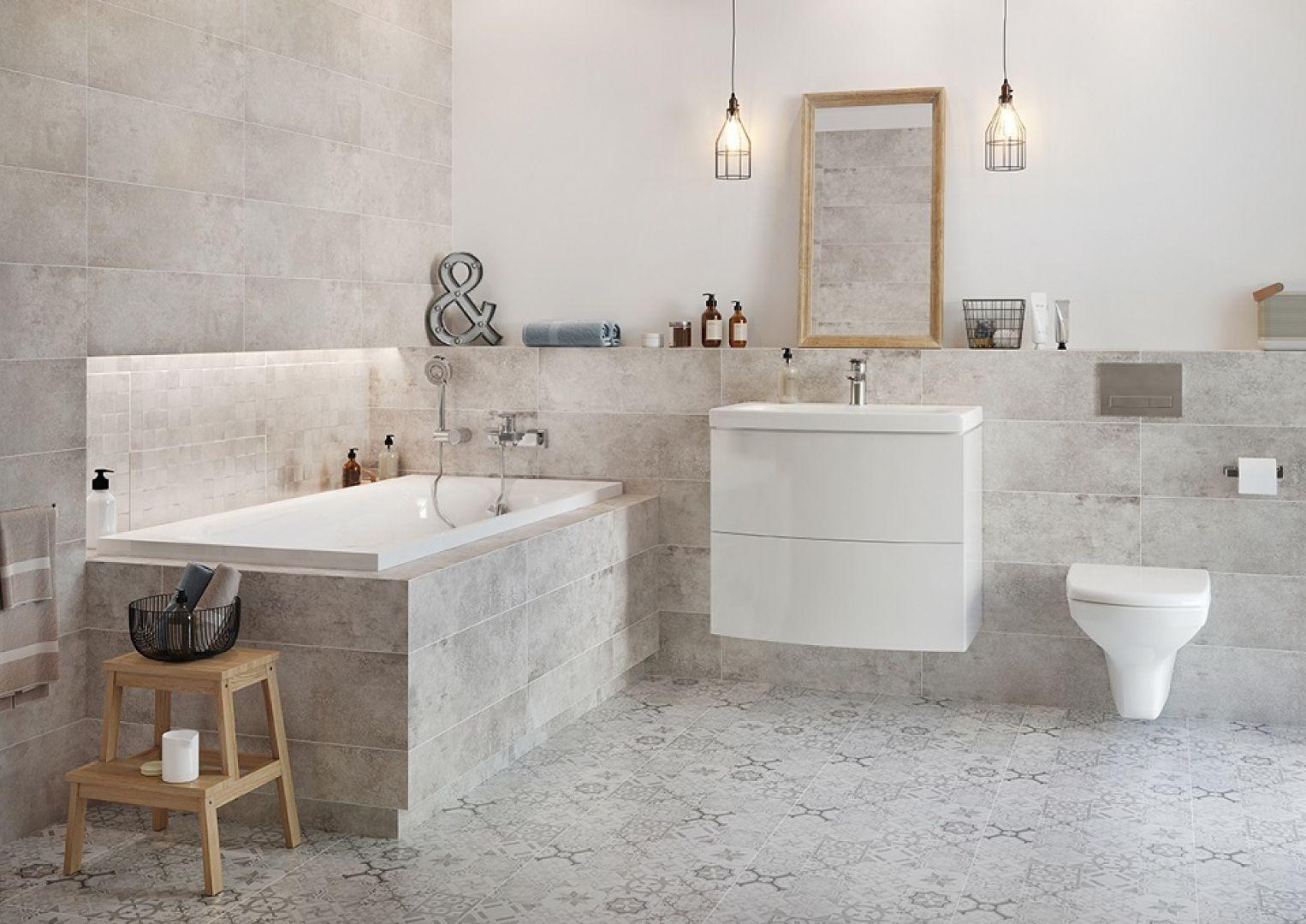 Płytki jak beton z kolekcji Conrete Style firmy Cersanit. Fot. Cersanit