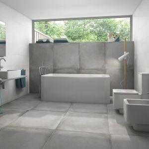 Płytki jak beton z kolekcji Derby firmy Roca. Fot. Roca