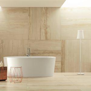 Wielkoformatowe płytki ceramiczne marki Monolith Ceramiki Tubądzin osiągają wymiary 120x240 cm. Fot. Tubądzin, na zdjęciu płytki Onis