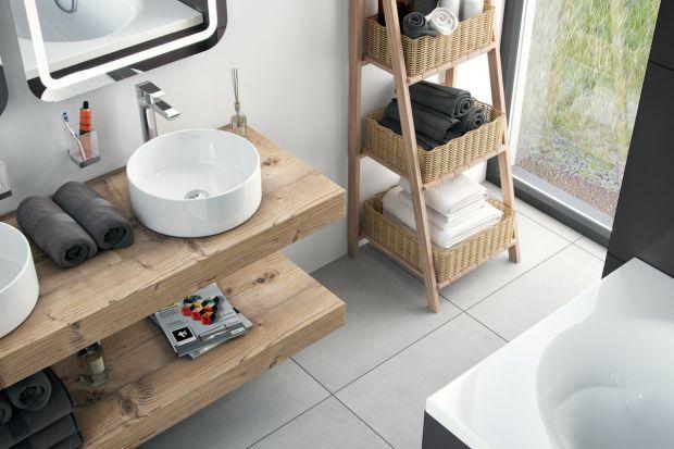 Strefa umywalki to wizytówka łazienki. Elegancji doda jej obecność nablatowej umywalki.