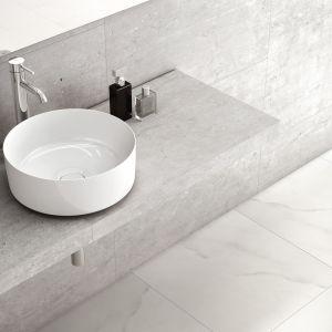 Nablatowa umywalka Inspira Round firmy Roca. Fot. Roca