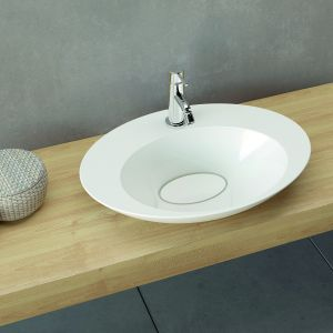 Umywalka nablatowa z serii Amos marki Marmorin Design. Fot. Marmorin Design