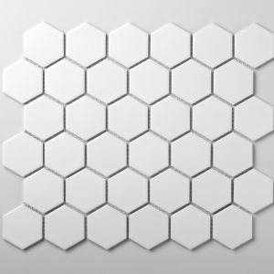 Mozaika ceramiczna w kształcie heksagonów. Fot. Raw Decor