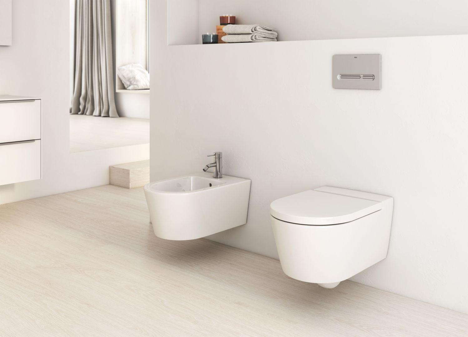 Podwieszana ceramika sanitarna z kolekcji Inspira Round marki Roca. Fot. Roca