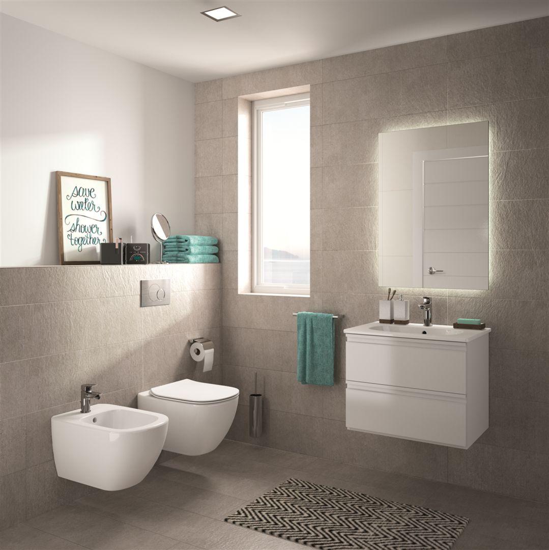 Podwieszana ceramika sanitarna z kolekcji Tesi marki Ideal Standard. Fot. Ideal Standard