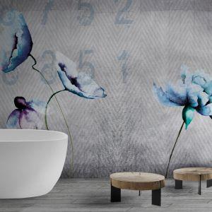 Wodoodporna tapeta Watercolour Fleur z kolekcji David Selection. Fot. N.O.W. Edizioni