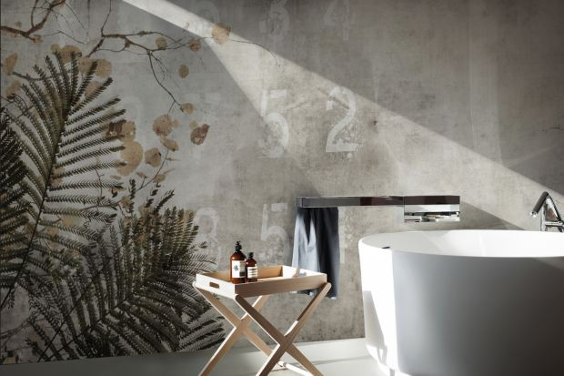 Szukacie pomysłu na niebanalne i eleganckie wykończenie ściany w łazience? Wybierzcie wodoodporną tapetę!