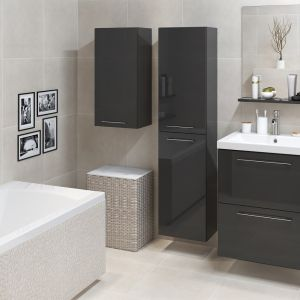 Meble łazienkowe z kolekcji Galaxy marki Cersanit w czarnym kolorze. Fot. Cersanit