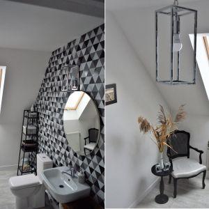 Klimatyczne oświetlenie w łazience. Lampa Telaio. Fot. Britop Lighting