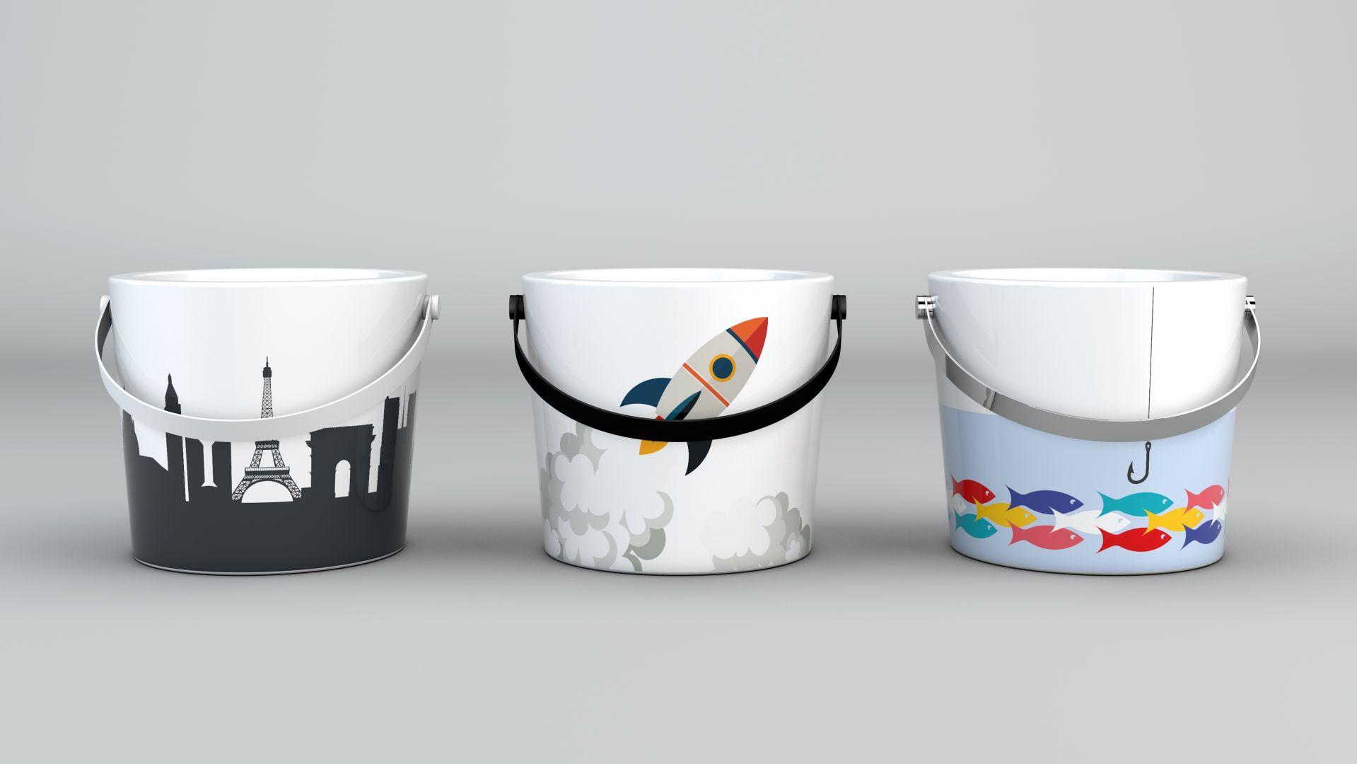 Umywalki z kolekcji Bucket. Fot. Scarabeo