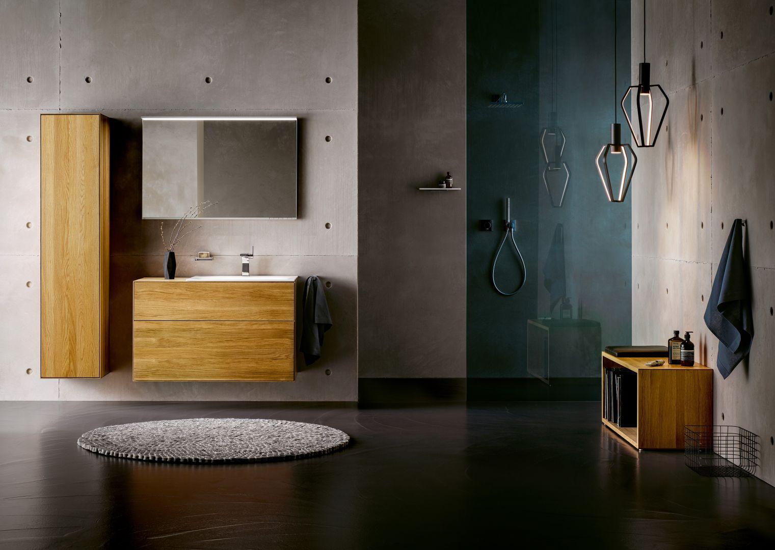 Meble łazienkowe z limitowanej kolekcji Edition Lignatur marki Keuco. Fot. Keuco