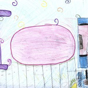 Praca nagrodzona w konkursie na rysunek wymarzonego domu. Autorka: Alicja Plewka