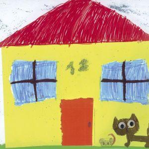 Praca nagrodzona w konkursie na rysunek wymarzonego domu. Autorka: Agata Steć