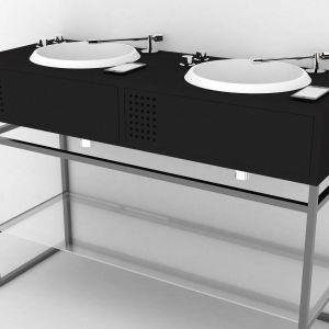 Baterie umywalkowe do złudzenia imitują ramię gramofonu. Proj. Gianluca Paludi. Fot. Olympia Ceramica