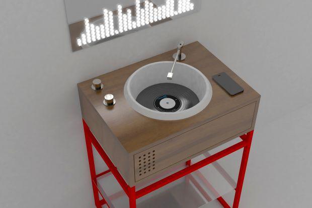 Konsola umywalkowa niczym... konsola muzyczna? Zobaczcie niezwykły projekt dla wielbicieli muzyki i stylu retro!