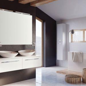 Podwieszane meble łazienkowe z kolekcji Kwadro Slim marki Elita. Fot. Elita